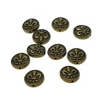 Bronze Pewter Fleur-de-lis Beads 16mm with 1.5mm Hole 10 per bag