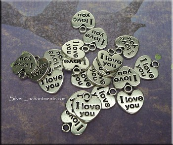 I Love You Charm, Heart Tag | Bulk Pack Shown