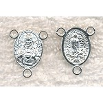 Sacred Heart Rosary Stations, Bright Silver (10)