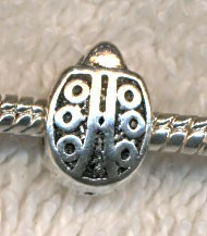 Antique Silver Ladybug Large Hole Bead