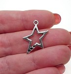 Star Charms, 24x18mm Pentagram Charms (20)