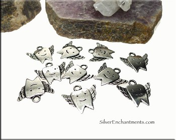 Pewter Tooth Fairy Charms (10)