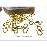 S-Hook Clasps with Nailtop Accent, Antique Gold (20)