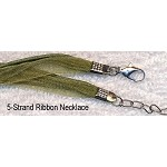 Olive Green Organza Necklaces (10)