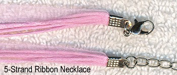Pink Organza Necklaces (10)