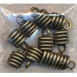 Bronze Jewelry End Caps with 7mm Opening (10)