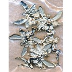 SOLDOUT - Fairy Pendant, Bright Silver Finish