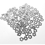 Bright Silver 3mm Daisy Spacers, Spacer Beads (100)