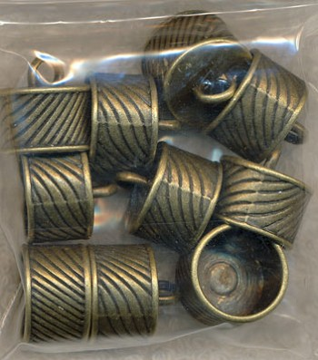Large Swirl Detail Jewelry Caps - Bulk Pack Shown
