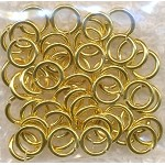 7mm Gold Plated Jump Rings, 18-gauge (50)