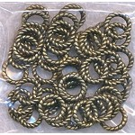 Brass 9.5mm Closed Twist Jump Ring (50)