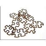 Copper Puzzle Piece Jewelry Connectors, Autism Awareness (10)