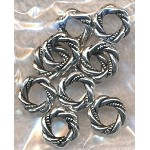 12mm Fancy Ring Beads, Antique Silver (10)