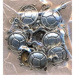 Turtle Charms, Antique Silver (10)