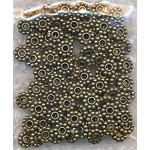 5mm Daisy Spacers, Antique Brass Finish (100)