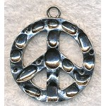 Large Peace Sign Necklace, 38mm Peace Necklace