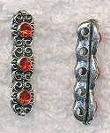 Fancy Jewelry Separator Bars with Red Crystals (10)