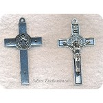 Large Double-Sided 3D Crucifix Pendant, 76x42mm