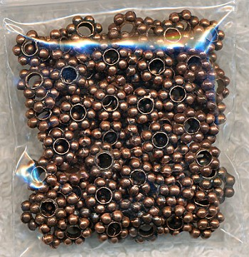 6mm Daisy Spacers, Copper Pewter (100)