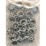 Tibetan Silver Large Hole Dotted Ring Spacers with 2.5mm Hole, Bulk (30)