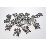 Antique Silver Pewter Butterfly Charm, 15x10mm