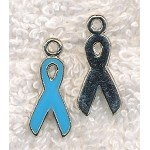 Blue Ribbon Charms, Light Blue 4pc