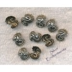Conch Spiral Wrap Hugger Bead Caps, Unusual Beadcaps (10)