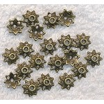 Brass Bead Caps, 9mm (20)