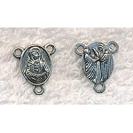 Antique Silver Our Lady Rosary Ys, Rosary Centerpieces, 17x15mm (10)