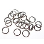 Large Hole Spacer Ring Beads Bulk (20)