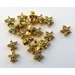 6mm Star Beads, Antiqued Gold Bulk (20)