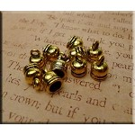 Bell End Caps with 5.5mm Opening, Antiqued Gold (10)