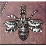 Tibetan Silver Bee Pendant, Antique Silver Pewter Large Bee Pendants (1)