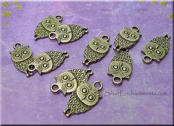 Double-Sided Owl Charms (10)