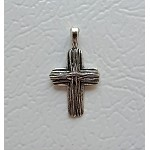 Tibetan Silver Cross Pendants, Christian Jewelry Supply (10)