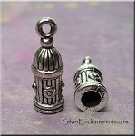 Silver Pewter Decorative Jewelry End Caps with 4mm Opening 20x7mm 10 per bag