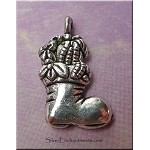 Christmas Stocking Charm, Christmas Boot Charm