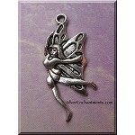 Silver Dancing Butterfly Fairy Necklace - Everyday Fantasy Jewelry