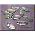 Peace Charms, Antique Silver Oval (10)