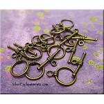 Bronze Simple Wrap Round Toggle Clasps, Small (10)
