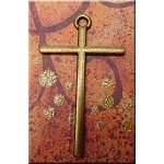 Bronze Plain Cross Necklace