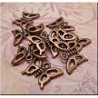 Antique Copper Pewter Butterfly Charms 10 pieces