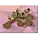 Bronze Pewter Decorative Scroll Bails 10 per bag