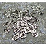 Cross Pendants, Antique Silver Double Sided  (10)