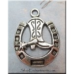 Cowboy Boot in Horse Shoe Charm, Cowboy-Cowgirl Jewelry