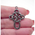SOLDOUT - Tibetan Silver Celtic Cross Pendants, Antique Silver Pewter Celtic Cross (1)