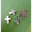 Tibetan Silver Cross Beads with 2.5mm Hole (10)