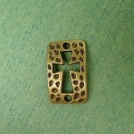 Bronze Cross Connectors, Textured Cut-out Cross (10)