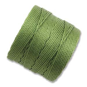 Avocado Green S-Lon #18 Twisted Nylon Beading Cord Spool
