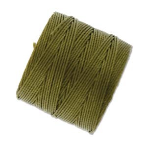 Golden Olive Green S-Lon #18 Twisted Nylon Beading Cord Spool